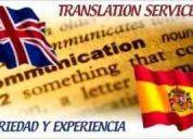 Traducciones, interpretaciones.