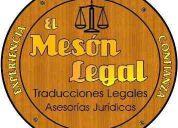 El mesÓn legal - traducciones legales inglés/español/inglés