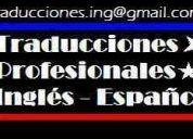 Traducciones profesionales inglés - español