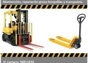 Reparación y mantención de gruas horquillas y transpaletas