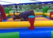 arriendo de toro mecánicos bungye  trampolín castillo inflables muro de escalar