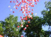 Efecto lluvia de globos  para fiestas y empresas...