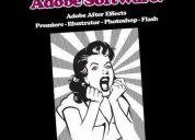 Clases - diseño audiovisual & gráfico, adobe software (5 programs)