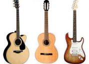 Clases de guitarra nivel basico y medio !! precios populares!!