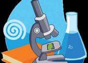 Se ofrecen clases particulares de biología, quimica y matematica