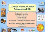 Clases particulares asignaturas egb