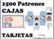 1500 patrones  para realizar tus propias cajas + diseÑos para tarjetas   $2.000