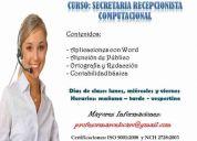 Curso: secretaria recepcionista computacional