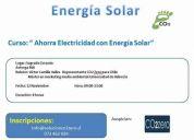 """curso: """" ahorra electricidad con energía solar"""""""