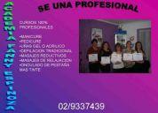 Cursos de manicure, masajes, pestaÑas se independiente este 2010 02/9337439