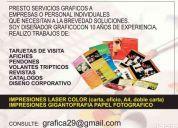 Ofresco servicios de diseÑo grafico e impresiones digitales..