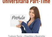 vededores part time y full time