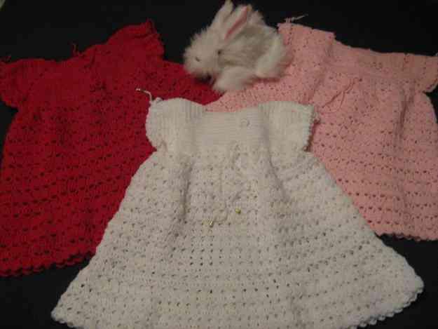 Hermosos vestidos tejidos a crochet y exclusivos chales para bebes ...