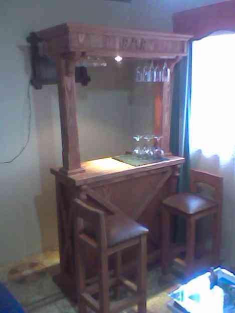 Lindo bar de madera rancagua hogar jardin muebles for Bar de madera chile