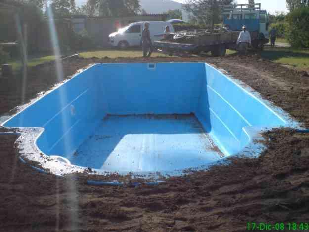 piscina de fibra de vidrio usadas airea condicionado