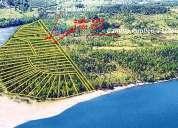 parcela 5.000 mts lago maihue acceso playa en condominio privado