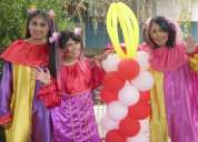 Fiesta de cumpleÑos, animaciÓn infantil con payasitas (f. 6692764)