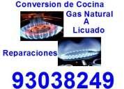 Conversion de cocina gas natural a licuado
