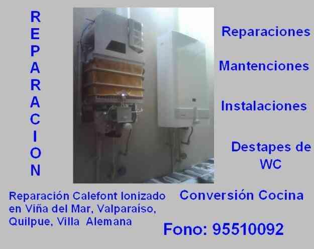 Reparacion Calefon Ionizado, Estufas, Cocinas