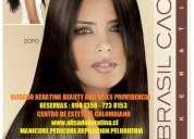 Alisado keratina en providencia 894 1358-723 8153 peluqueria colombiana beauty and nails