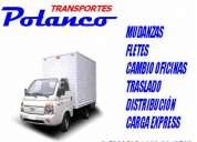 Fletes mudanzas transportes polanco carga express v regiÓn santiago regiones
