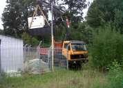 Arriendo y servicio de camión grúa pluma 4x4