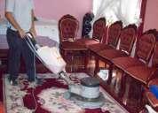 Lavado de alfombras y tapices, inundaciones, aseo en gral. dptos. casas oficinas y otros