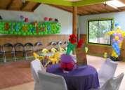 3 salones para cumpleaños, rancho planetakids ofrece variedad de planes todo incluido