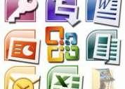 Clases (cursos) (capacitación) particulares de access excel (office),  a domicilio (partic