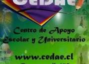 Centro de apoyo escolar y universitario - quimica, fisica matematicas, etc