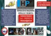 Reparacion cilindros maquinaria oleo hidraulica