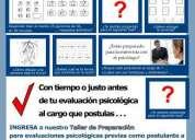 Preparacion para tests y entrevistas psicologicas laborales