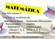 Clases de particulares y grupales de matemáticas y física