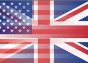 Clases particulares de inglés a domicilio $5.000 hora cronológica