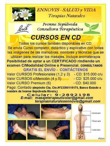 CURSOS EN CD -MASAJE TERAPEUTICO, RELAJACIÓN, DESCONTRACTURANTE