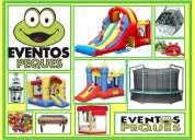 Animacion, juegos inflables, maquinas dulces, cama elastica, decoracion globos, mini spa, etc.
