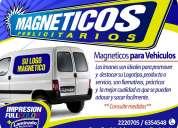 Magneticos publicitarios & logotipos imantados para autos