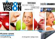 Autoadhesivo window vision con publicidad para ventanales