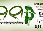 Servicios musicales - grabación / producción