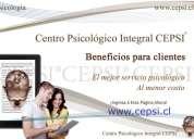 Psicólogo beneficios gratis cepsi ®