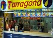 Staff locales de comida rápida en santiago