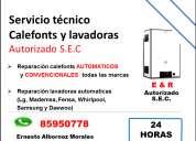 Servicio técnico e&r calefonts y lavadoras autoriado s.e.c.