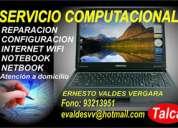 Servicio técnico de computadores, notebook y netbook, a domicilio  en talca.