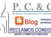 Administración de edificios,problemas condominios y comunidades.