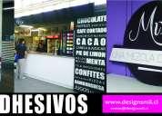 Decoraciones de tiendas, letreros acrílicos ,trovisel  soportes rígidos decorados de vehículos ma