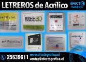 Letreros de acrilico y vidrios