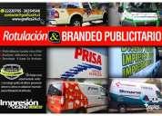 Logotipos autoadhesivos y rotulacion publicitaria de vehiculos