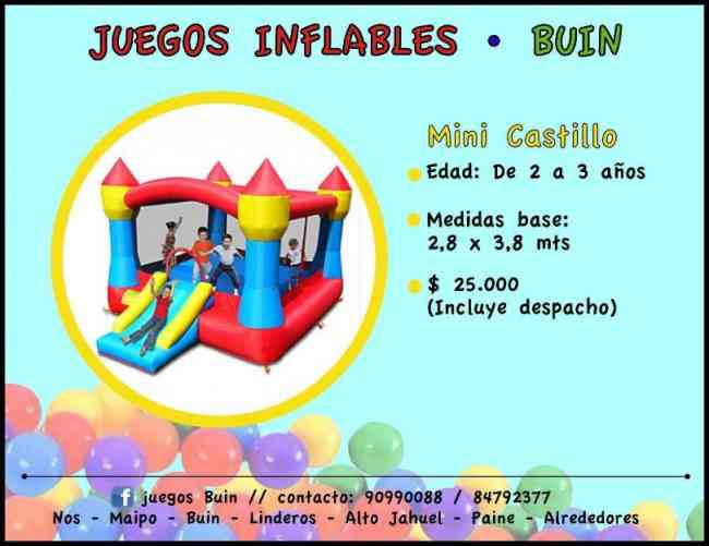 Arriendo Juegos Inflables Buin Linderos Paine Alrededores Buin