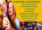 Animacion karaoke dj para todo tipo de eventos