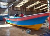 Botes de fibra de vidrio para la pesca artezanal